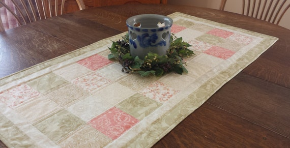 Quilted table runner, table runner, quilted patchwork table runner, country table runner, patchwork runner, etsy table runners