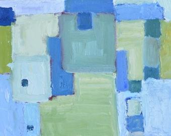 abstract oil painting, 9x12, unframed, original art