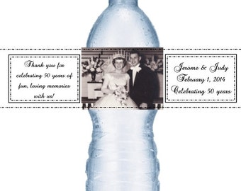 49 Anniversary Photograph Water Labels
