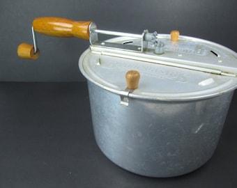 Popcorn popper, vintage kitchen, camping,mid century kitchen, appliance,