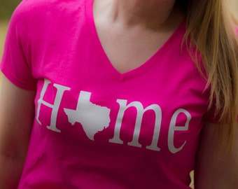 State Home & Love V-Neck Tee