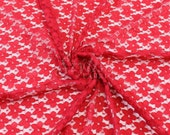 Stretch Lace Fabric Red Deep by the yard - Kate Floral Pattern  - 1 Yard style 352