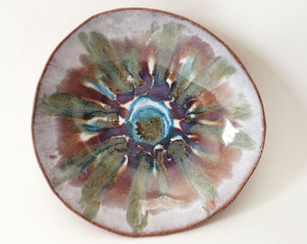 Ceramic Serving Bowl, Colorful Pottery