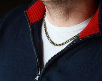 Designer Men's Chain Necklace - Mens Necklace - Stunning Chainlink Men Necklace