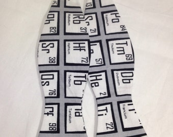 Periodic Table Self Tie Freestyle Science Bow Tie