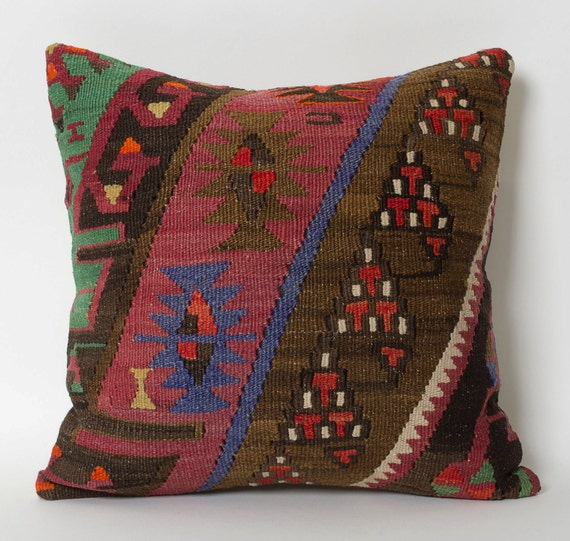 Decorative Pillows Kilim : Kilim Throw Pillow Cover Handwoven Pillow Decorative Pillows