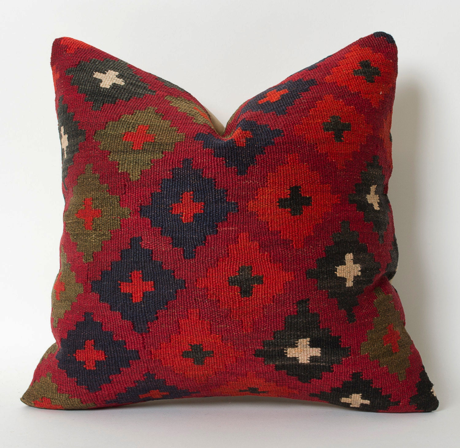 Decorative Pillows Kilim : kilim pillow decorative pillow kilim red home decor