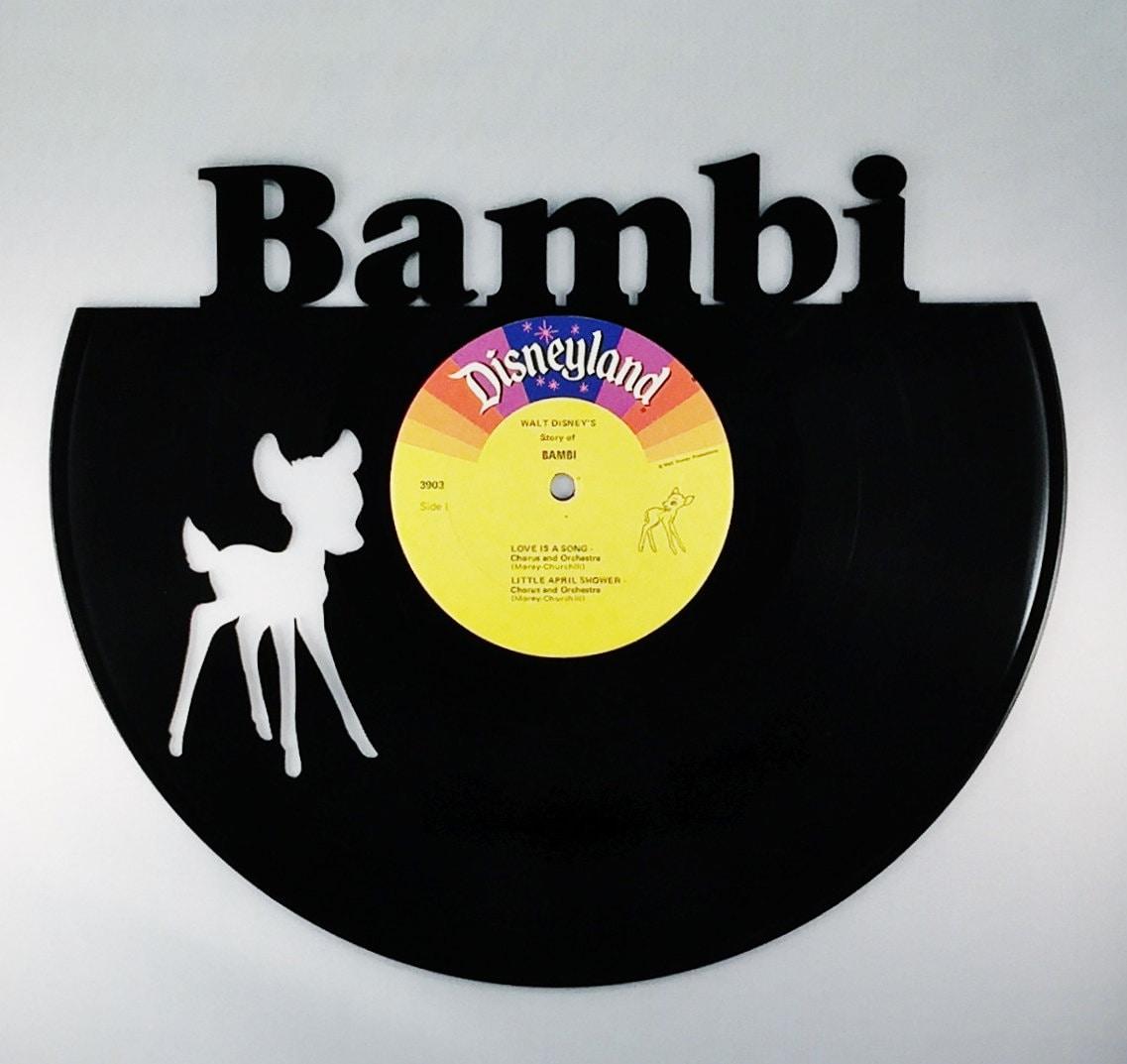 Recycled Vinyl Record Walt Disney BAMBI Wall Art ...