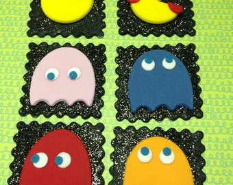 Pac Man Cupcake Toppers