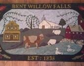Bent Willow Falls Rug Hooking Pattern