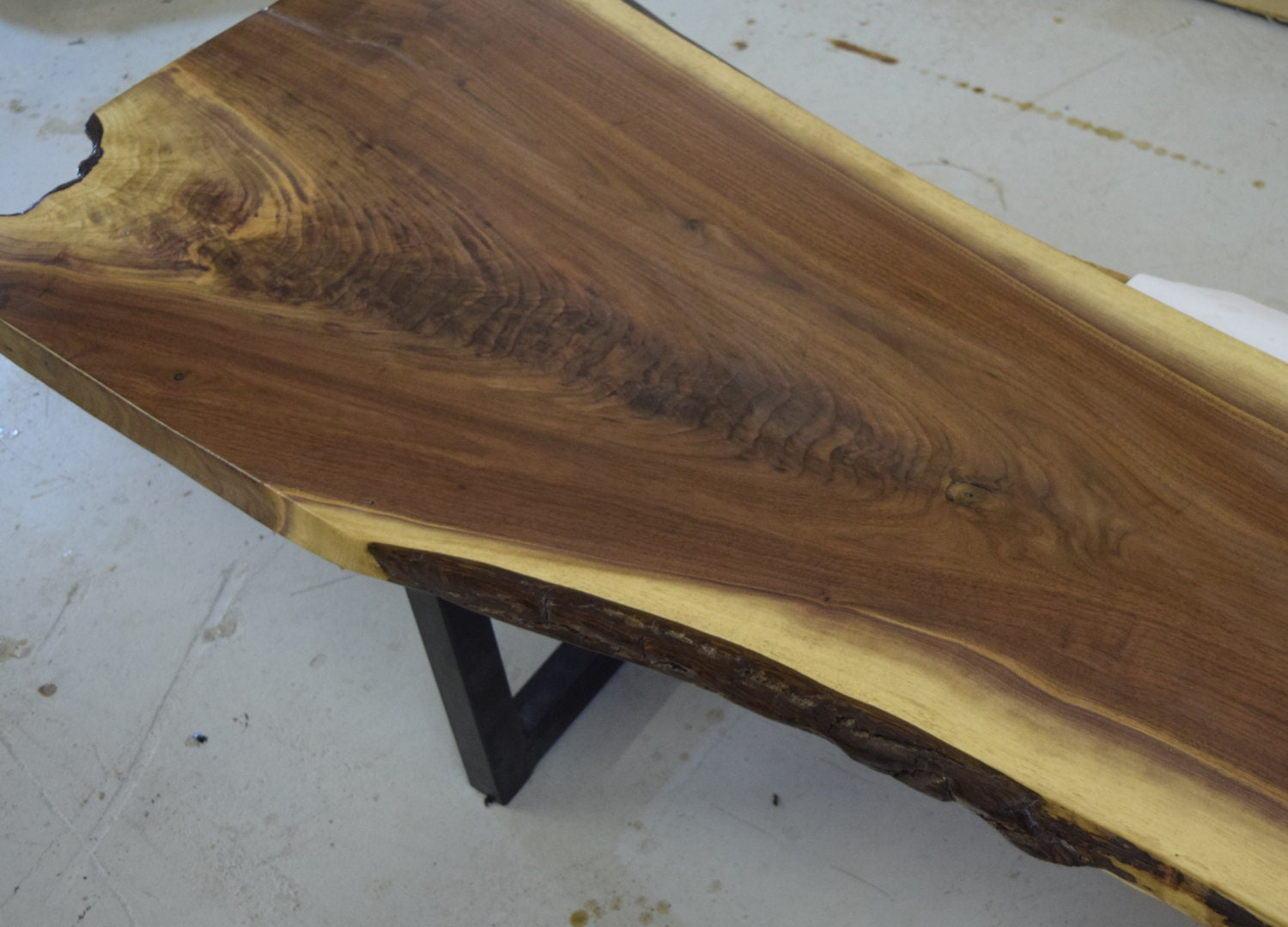 Walnut Live Edge Coffee Table Live Edge Table By Urbanwoodllc