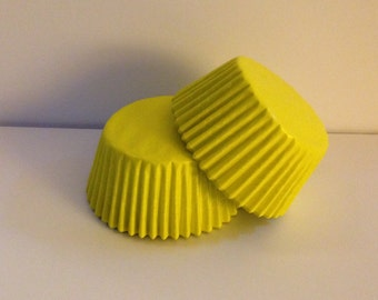 50 count -  Glassine Yellow standard size cupcake liners/baking cups
