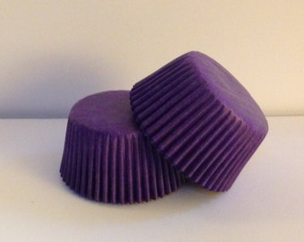 75 count -  Glassine Purple standard size cupcake liners/baking cups