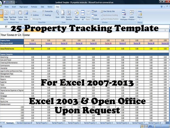 Property Tracking Expense And Rental Income Tracking