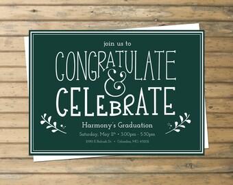 Celebration Invitation, Graduation Invitation
