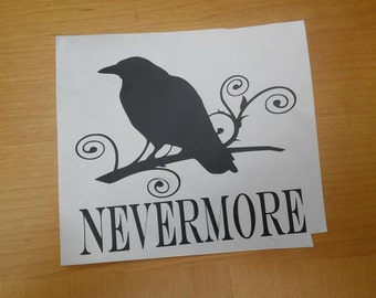 Edgar Allen Poe The Raven Vinyl Decal