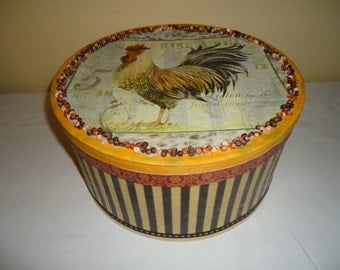 Rooster Round Storage Box