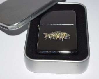 Common Carp Fishing Lighter! Fishing Gift. Inc Tin Gift Box