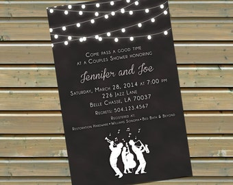 New Orleans Jazz Amp Lamp Post Invitation With By