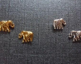 Cute Handcrafted Elephant Magnetic Earrings!