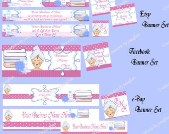 Deluxe Premade Beauty Theme Shop Banner Package Set 101