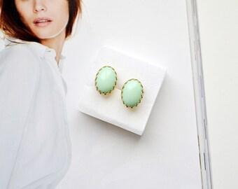 Mint Studs Earrings