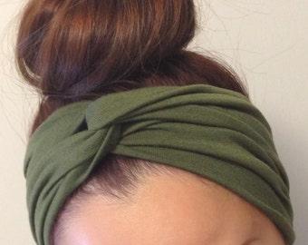 Olive Turban Style Headband