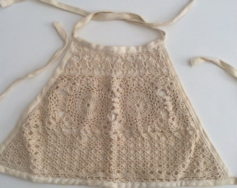 CROCHETED HALTER TOP Fully Lined Size Medium by Morbid Threads Vintage