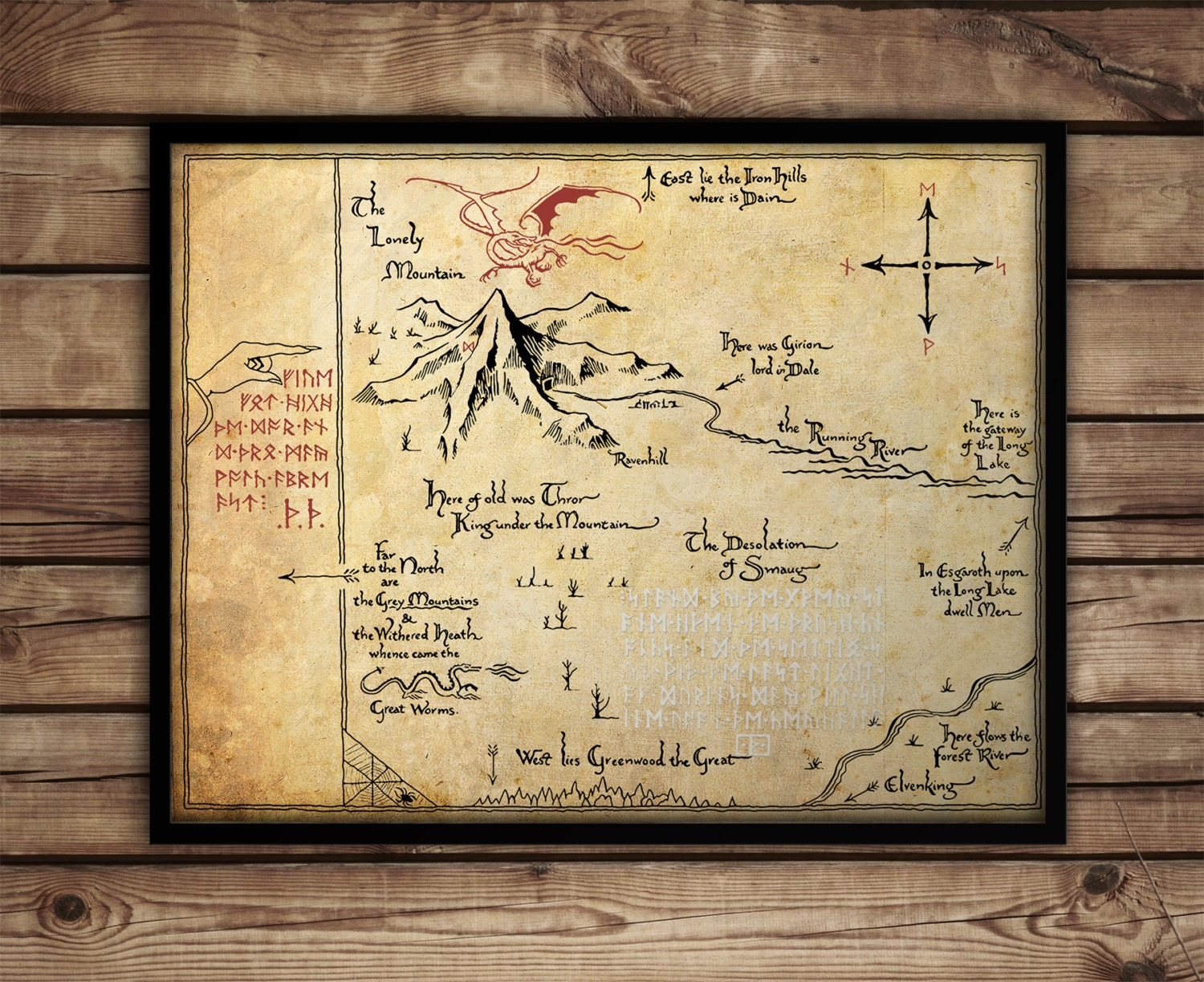 The HobbitThorins Map Map of Erebor Thrrs Map