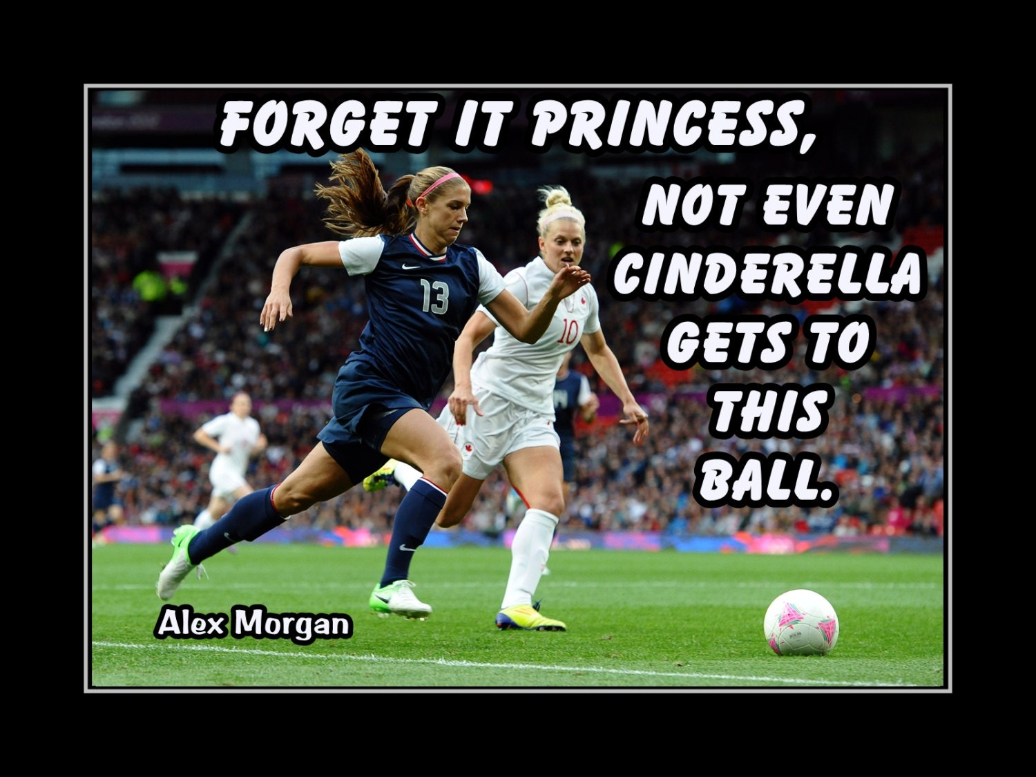 Alex Morgan Girls Soccer Motivation Wall Art Daughter