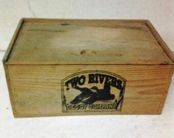 Two Rivers duck decoy box