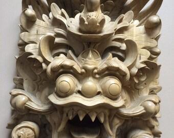 Stunning Hand Carved Balinese Barong Mask