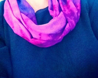 Infinity hand dyed rayon scarf
