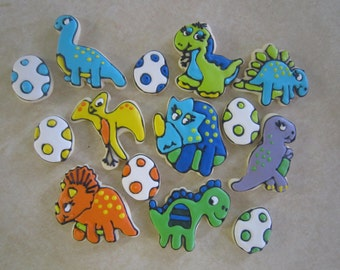 Cute Dinosaur Cookies
