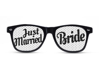 Just Married Bride Glasses