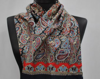Vintage PASLEY PRINTED scarf , long men scarf...(814)
