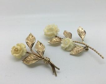 Set of Vintage Van Dell GF  Rose pins