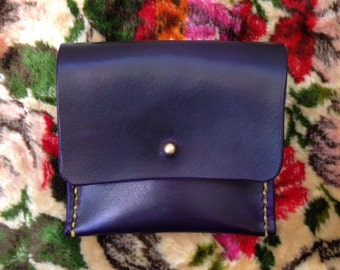 Handmade. Hand Dyed Purple cardholding wallet