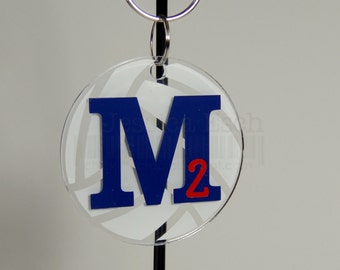 """Personalized Volleyball Key Chain~ Party Favor/ Team Gifts .... Custom 2.5"""""""