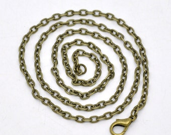 Antiques Bronze Flat Link Chains - 18""