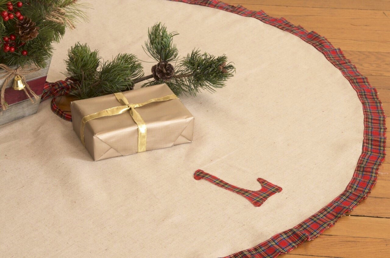 Christmas Tree Skirt Large Tree Skirt Tartan Tree Skirt