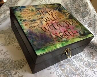essential oil decorative storage box it is well - Decorative Storage Box