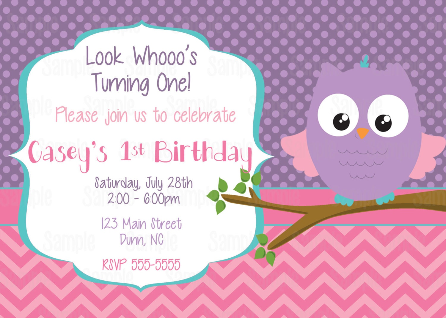 Printable Look Whoos Turning one owl invitation plus FREE