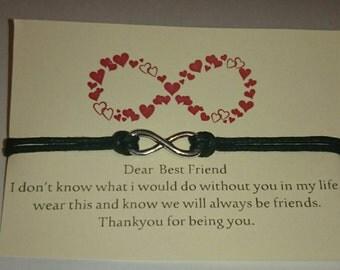 Best friends bracelet,  infinity,  bestie gift