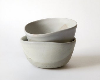 Pottery bowl. Matte off white bowl. Speckled pottery. Ceramics and Pottery. Ceramic bowl. Ice cream bowls. Snack bowls. Small pottery bowl.