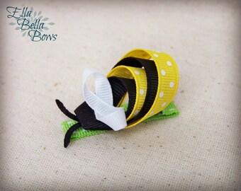 Bee Ribbon Sculpture Hair Clip, Bumblebee Bug Hair Bow