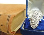 Platinum 1920s Art Deco Old Mine Cut Diamond Cocktail Engagement Ring 2.50ctw Size 9 Great Gatsby
