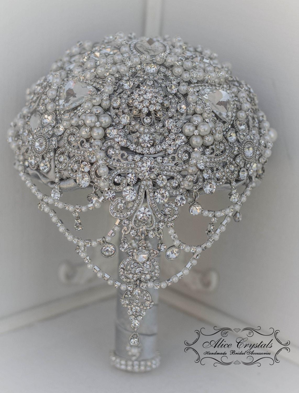 Pearl Brooch Bouquet The Great Gatsby Brooch Bouquet