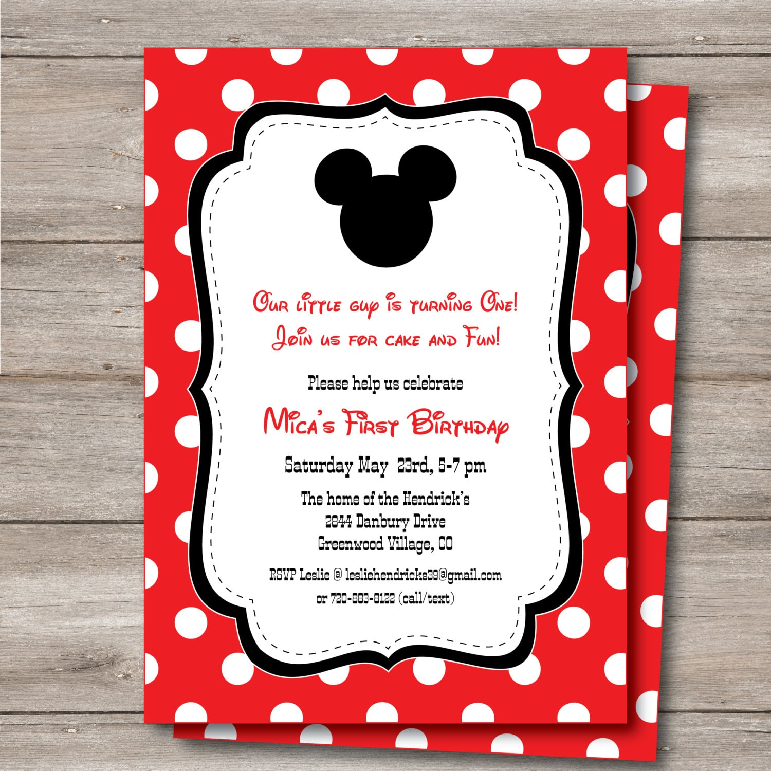 Mickey Mouse Invitation with Editable Text to Print at Home