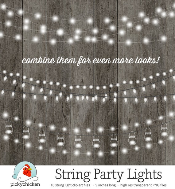 String Of Xmas Lights Clipart: String Lights Clipart Fairy Lights Chalkboard Party Lights